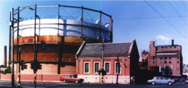 Gasholder on the Dunedin Gasworks site